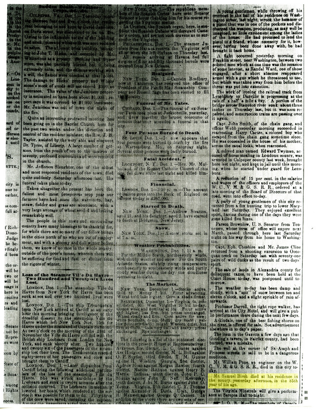 Page in the Alexandria Gazette