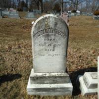 Headstone for Amelia Presgraves