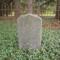 Headstone of Mittie Compton