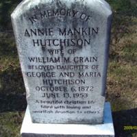 Annie Mankin Hutchison Headstone