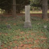 Headstone and Footstones of Felix and Eloise Compton
