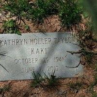 "Kathryn Holler Taylor ""Kaki"" Headstone"