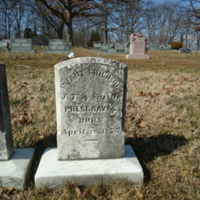 Headstone for Infant Presgraves
