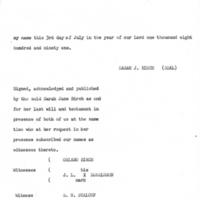 Sarah Jane Birch's Will page 4