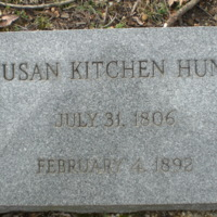 Susan Kitchen Hunt Headstone