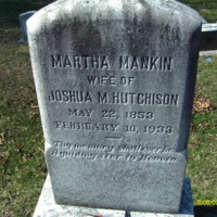 Martha Mankin Hutchison Headstone