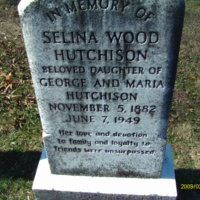 Selina Wood Hutchison Headstone