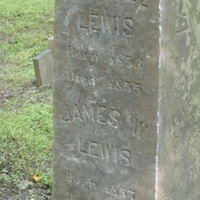 Isabelle Lewis and James W. Lewis' Headstone