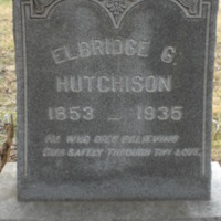 Elbridge G. Hutchison Headstone