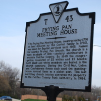 Frying Pan Meeting House Historic Marker